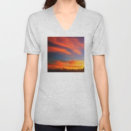 Tahiti South Pacific Sunset Unisex V-Neck