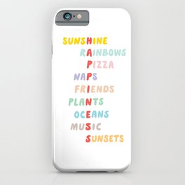 Favorite things (Sunshine and Rainbows) iPhone Case