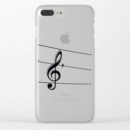 Natures Choir Birds on Wire Music Note A611W Clear iPhone Case