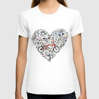 brompton T-shirts featuring I Love Brompton Bikes by Wyatt Design