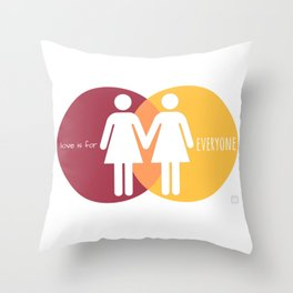 Love Is For Everyone - Her & Her Throw Pillow