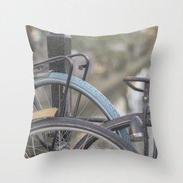 Netherlands Bikes Throw Pillow