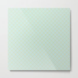 Mint Mermaid Scales Metal Print