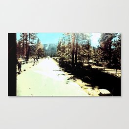 At The End Of The Road Canvas Print