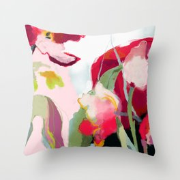 abstract bloom Throw Pillow