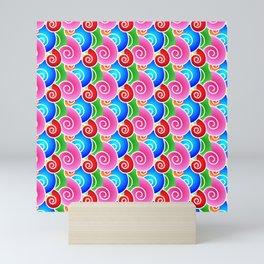 Rainbow Seashells Mini Art Print