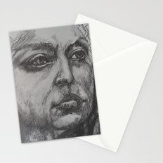 Pencil Sketch of Female Face/Portrait. Graphite Stationery Cards