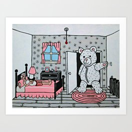 It Was Christmas Eve, and Lorraine Had Promised to Try on Her New Teddy. Art Print