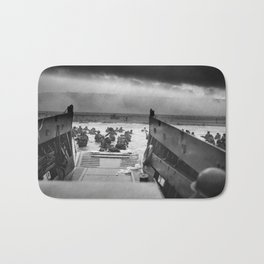 Omaha Beach Landing -- D-Day Normandy Invasion Bath Mat