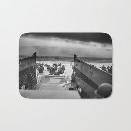 Omaha Beach Landing -- D-Day Normandy Invasion Bath Mat