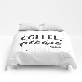 Coffee lettering Comforters