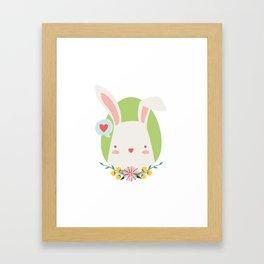 Happy Rabbit Framed Art Print