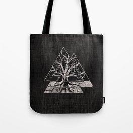 Valknut Symbol and Tree of life  -Yggdrasil Tote Bag