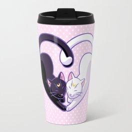 Moon Kitty Love Travel Mug