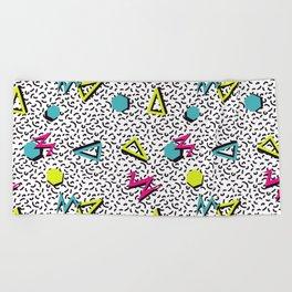 Funky 80s & 90s Memphis Pattern Design Beach Towel