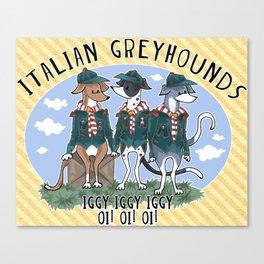 Italian Greyhound Scouts Canvas Print