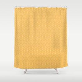Sashiko stitching Yellow/Ochre/Ocher pattern Shower Curtain