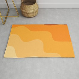 Abstract orange papercut pattern Rug