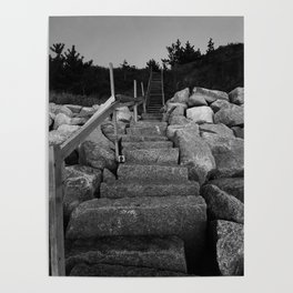 Cape Cod Stairs Poster