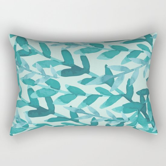 Lush Blue Rectangular Pillow