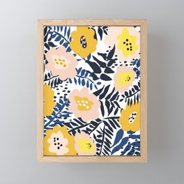 Outdoor: florals matching to design for a happy life Framed Mini Art Print