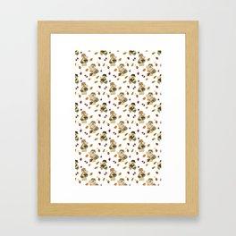 FISHING BEAR Framed Art Print