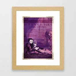 Anthony & Cleopatra -  Shakespeare Folio Illustration - Egyptian Love  Framed Art Print