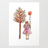 eugenia loli Art Prints featuring Little Loli by Adela Pakke