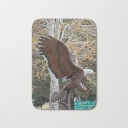 American Eagle and Birch Tree Bath Mat
