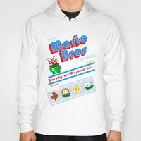 mario bros Hoodies featuring Super Mario Bros Plumbing by brit eddy