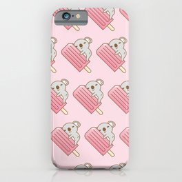 koala and pink ice pop  iPhone Case