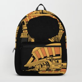 Skull dump truck Backpack