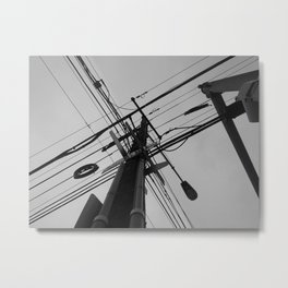 Street Pole Metal Print