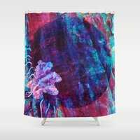 jelly fish Shower Curtains featuring Jelly by Hyla Zest