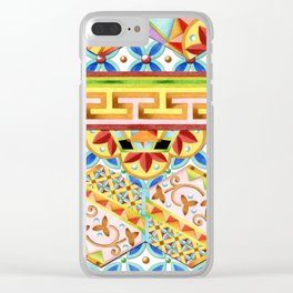 Gypsy Caravan Circus Clear iPhone Case