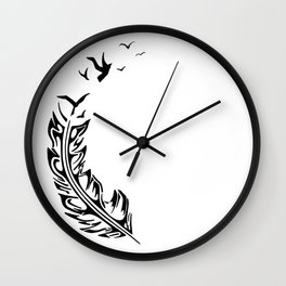 Birds from a feather Wall Clock