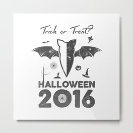 Halloween party label Metal Print