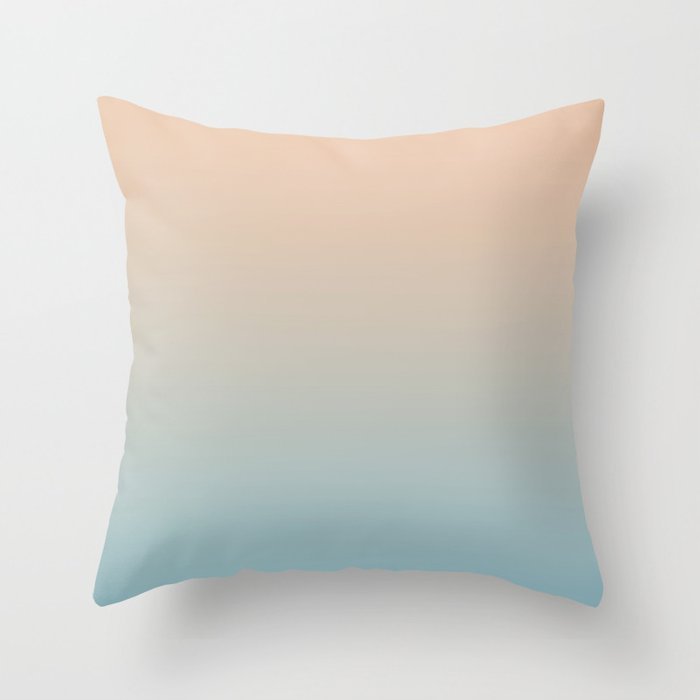 HALF MOON - Minimal Plain Soft Mood Color Blend Prints Throw Pillow