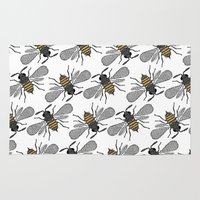 bees Area & Throw Rugs featuring bees by Huntleigh