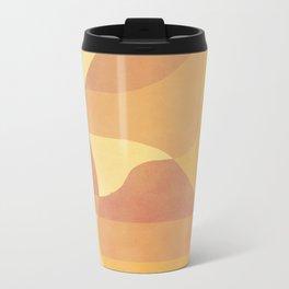 Geometric Pattern in Summer Orange Metal Travel Mug
