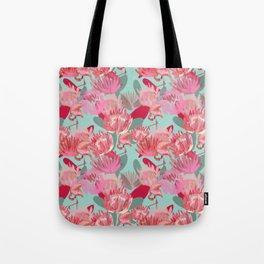 Flamingos and Proteas Tote Bag