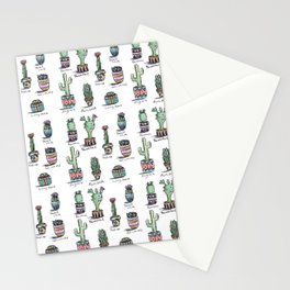 Cactus and Succulent Pattern Stationery Cards