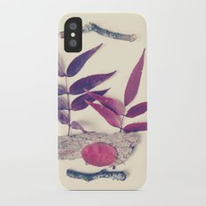 Red Leaf and Twigs Collection Slim Case iPhone X