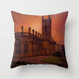WW2 Bombed out Church Throw Pillow