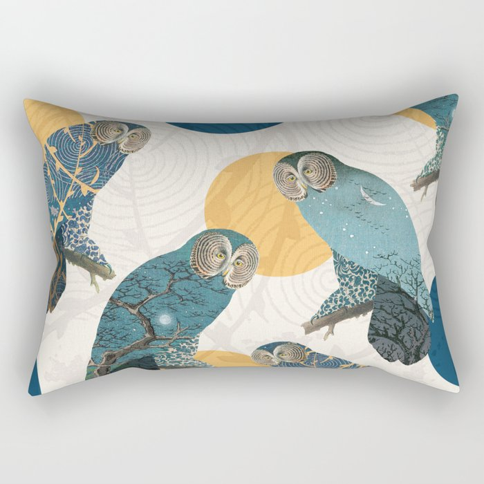 Night Owl Polka Rectangular Pillow