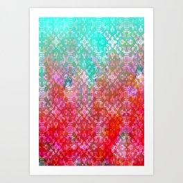 Blushing Tribal  Art Print