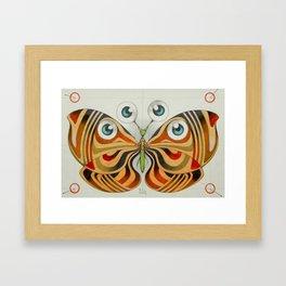 four eyes butterfly (ORIGINAL SOLD). Framed Art Print