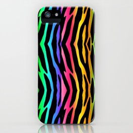 Rainbow Zebra Animal Print iPhone Case