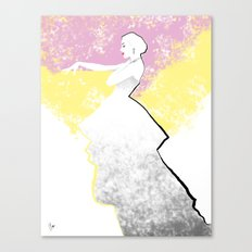 'Strawberry Lemonade' Fashion Illustration Canvas Print