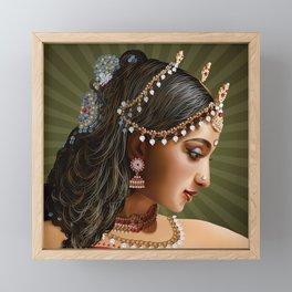 Indian Girl Framed Mini Art Print